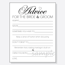 advice to and groom cards diy advice for the groom printable cards for a shower