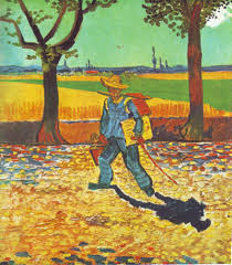 the art of vincent van gogh painter on his way to work 1888