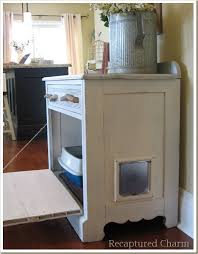 litter box side table old cabiinet to litterbox side home pinterest litter box and kitty