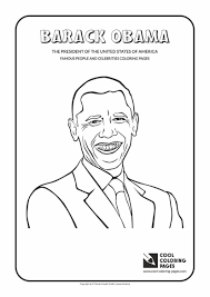 coloring pages obama page for free family kids printable 36681