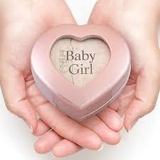 baby urns girl heart box cremation urn