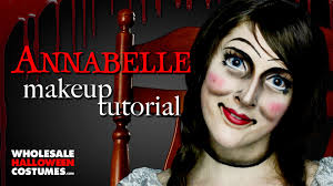 raggedy ann halloween makeup annabelle makeup tutorial ft caitlyn kreklewich whcdoessfx