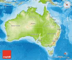 map of australia physical map of australia