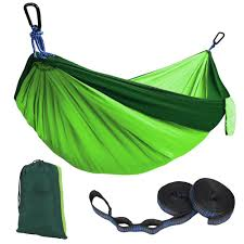 kootek green lightweight nylon parachute hammocks portable double