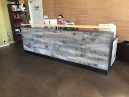 Laminate Reception Desk Buy A Made 8 Reclaimed Distressed Wood Reception Desk Made