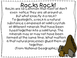 first grade wow soil and rocks