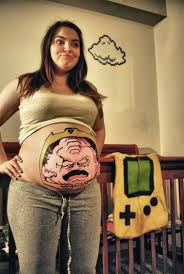 funny pregnant belly button tattoo tattoos book 65 000 tattoos