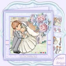 Card From Bride To Groom On Wedding Day Wedding Day Bride U0026 Groom Hugs 8x8 Decoupage Card Making Download