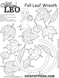 leaves color cut 25 leaf template ideas