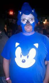 Blue Man Halloween Costume Chart Cat Sonic Hedgehog Cosplay