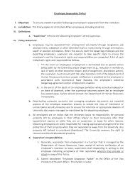 Employment Termination Letters by Resignation Letter Format Employee Separation Involuntary