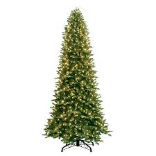 shop ge 9 ft pre lit fir artificial tree with white