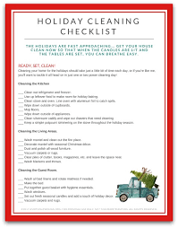 Furniture Clean House Fast Decorating by Free Printable Holiday Cleaning Checklist For Your Home
