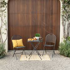 Folding Patio Bistro Set Royal Garden Ludwig 3pc Patio Folding Bistro Set