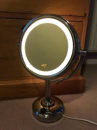 round makeup mirror with lights revealing illuminated makeup mirror boots no7 double sided in