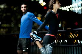 the beautiful run nike apparel keeps runners visible warm and