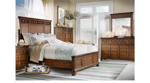 bondi beach brown 5 pc queen panel bedroom transitional
