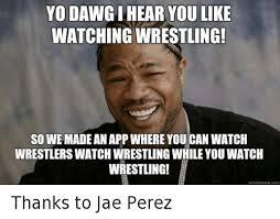 yo dawgihear you like watching wrestling so we made an app where