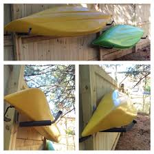 outdoor kayak storage got the utility hooks at home depot for 6