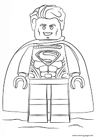 lego superman coloring pages printable