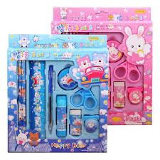 stationary set 9pcs sets kawaii children stationery sets kids pencil auto pencil