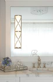 bathroom with robert abbey chase sconce transitional bathroom