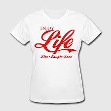 live laugh love enjoy life live laugh love t shirt design by ethos wear spreadshirt