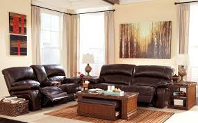 damacio dark brown reclining living room set from ashley u9820081