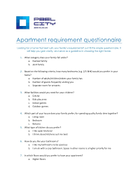 apartment buyer u0027s questionnaire for easy buying