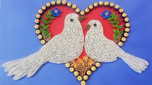paper quilling birds tutorial making beautiful love birds paper quilling art artttt