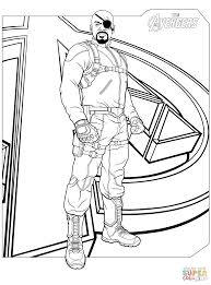 avengers nick fury coloring page free printable coloring pages