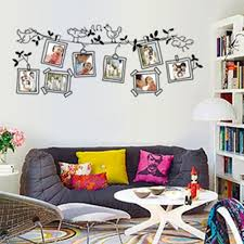 Schlafzimmer Bilderrahmen Familienbilderrahmen Fliegende Vögel Baum Wandaufkleber Kunst