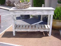 Outdoor Teak Table Rustic Outdoor Teak Console Table Made From Reclaimed Wood With