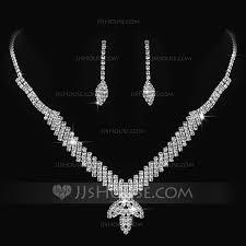 ladies necklace sets images Vintage alloy with rhinestone ladies 39 jewelry sets 011170878 jpg