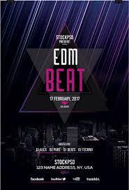 edm beat u2013 free psd flyer template free psd flyer download