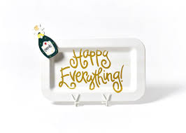coton colors happy everything platter white stripe happy everything mini rectangle platter with