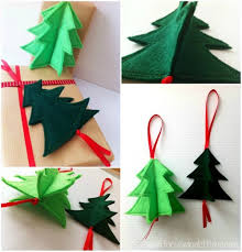Easy Christmas Tree Decorations 3d Holiday Ornament Easy 3d Felt Christmas Tree Ornament
