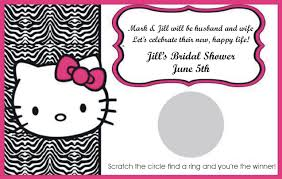 Invitation Card Hello Kitty Zebra Blank Invitations