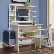 Office Chair On Laminate Floor White Computer Desk With Bookshelf Square File Cabinet Executive
