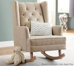 Pottery Barn Chairs For Sale Modern Tufted Wingback Convertible Rocker Pottery Barn Kids