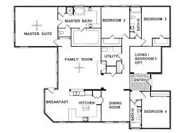 floor plans for 4 bedroom homes floor plan of 4 bedroom house makushina com