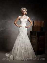 wedding wishes dresses mermaid lace and tulle embroidery wedding dress with sleeveless