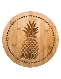 home essentials pineapple bamboo cutting board stage stores
