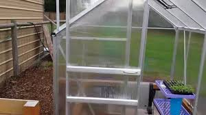 harbor freight 6x8 greenhouse tips n tricks review youtube