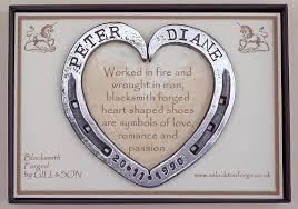 heart shaped horseshoes horseshoe heart personalised blacksmith forged iron steel