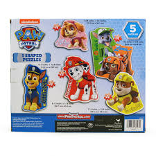 paw patrol 5 shaped puzzles kimmyshop com