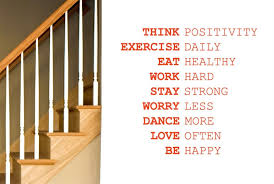 q026 think positivity exercise daily work hard wall stickers art