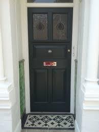 our restored front door in studio green farrow and ball