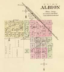 Nebraska On A Map History Of Albion Nebraska Nebraska Genealogy