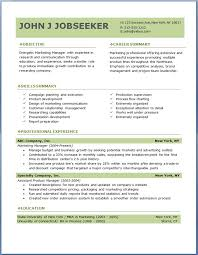 economic resume template free resume samples in word format